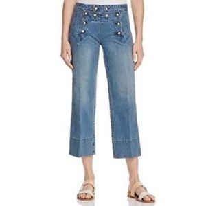 Michael Kors wide leg sailor cropped jeans
